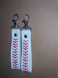 Wholesale Cheap Leather Accessories - 2016 factory is cheap baseball keychain,fastpitch softball accessories baseball seam keychains