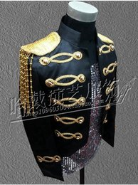 Wholesale Host Club - Han edition character costumes bar singer star man new stage performance clothing clubs sequins host studio coat S - 4 xl