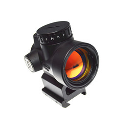 Wholesale Laser Sighted Scope - Holographic Trijicon MRO Style Red Dot Sight Scope With Low Mount And QD Mount For Hunting Black Sand