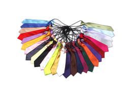 Wholesale Student Neckties - Shipping Free 21 Colors New Hot Student Slim Leisure Narrow Arrow Necktie Skinny Tie Children's Tie