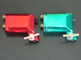 Wholesale Top Rotary Tattoo Guns - 2PCS Top Red Green Rotary Motor Tattoo Shader Liner Machine Gun Pro Tattoo Machine Gun Equipment