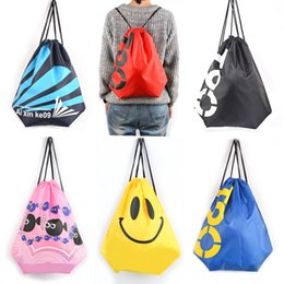 Wholesale Wholesale Beach Stuff - Lightweight portable thickening Oxford cloth beach shoulder bag admission bag drawstring beam waterproof bag sports backpack