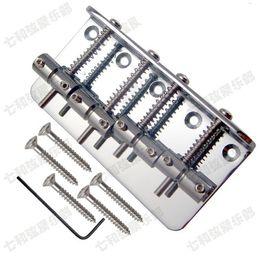Basse de fer argenté de haute qualité Guitare électrique Bridge 4 cordes basses Accessoires de pièces de guitare ? partir de fabricateur