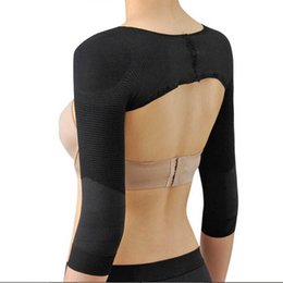 Wholesale Slimming Bodysuits For Women - Wholesale-Women Slimming Arm Shaper Massage Back Shoulder Compressing Corrector For Women Weight Loss Lift Shapers Arm Control Shapewear
