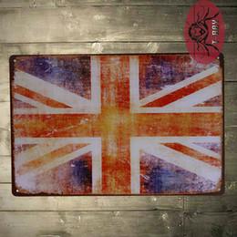 Wholesale Garage Wall Vinyl - Vintage painting Union flag bar decor House Office Garage shop wall sticker D-74 160909#