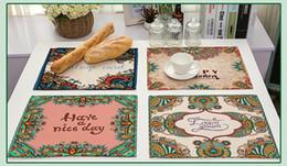 Déco coton en Ligne-Phrase anglaise avec napperon avec motif de mandala Tapis de table antidérapant Déco de table en coton et lin