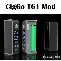Wholesale E Lock - Authentic Bauway CigGo T61 TC Box Mod E Cigarette Vape Mod VW  VT BYPASS Mod With OLED Screen Lock System Black Silver