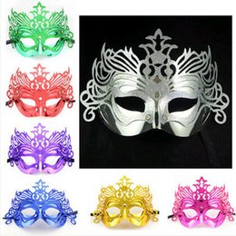 Wholesale Venetian Mask Masquerade Costume Purple - Christmas Costume Party Mask Sexy Masquerade Masks Hallowmas Venetian eye mask masquerade masks for Christmas Cosplay Party Night Club Ball