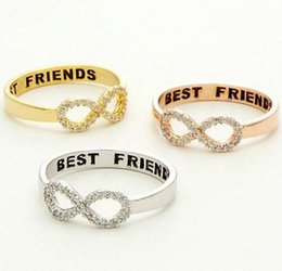Wholesale Top American Wholesalers - Top Selling American Graceful Gold Infinity Band Stainless Steel Friendship Zircon Ring