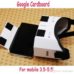 "Wholesale Paper Magnets - Google Cardboard Paper High quality DIY Magnet Virtual Reality VR Mobile Phone 3D Viewing Glasses For 3.5""-5.5"" Screen Google VR 3D Glasses"