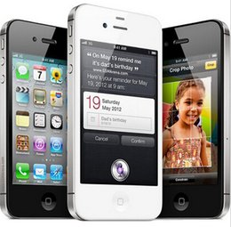 Wholesale Iphone4s Cellphones - iPhone4s Original Apple iPhone 4S ISO 8 GPS WIFI 16GB 32GB 64GB storage 3.5 inch Screen Dual Core mobile Phone