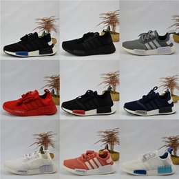 Wholesale Runner Lights - Adidas Originals NMD Runner R1 PK Mesh Triple White Cream Salmon City Paclk Men Women Running Shoes Sneakers Runer Primeknit Sports Shoes