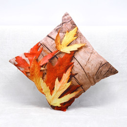Wholesale Maple Patterns - 3D Cushion Fall Maple Leaf Pattern Size 45*45cm High Density Thickening Material This Product Does Not Include Pillow Core.