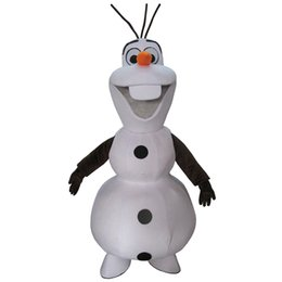 Wholesale Hot Fancy Dress Costumes - Hot Sale Smiling Frozen Olaf Mascot Costume Fancy Party Dress Suit Free Shipping