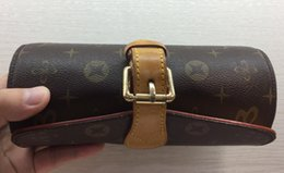 Wholesale Velvet Jewelry Bags Boxes - LEATHER 3 WATCH CASE BAG M47530 JEWELRY WATCHES BOXES M47530 JEWELRY BOX WATCH BOX 21 x 8 x 9 cm