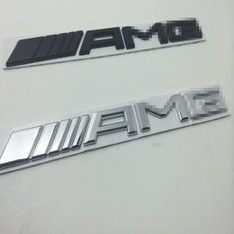 Wholesale Decal Words - 3d metal Chrome Car Logo 3D Metal AMG Badge Sticker For Mercedes Ben Trunk Rear Decal SL SLK Class CLK