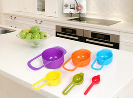 Wholesale Measuring Cups Spoons Set - New Arrive Colorful 6PCS Kitchen Colourworks Measuring Spoons Measuring Cups Spoon Cup Baking Utensil Set Kit Measuring Tools