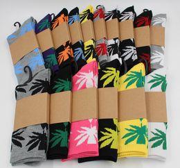 Wholesale Maples Leaves - Hot High Crew Socks Skateboard hiphop socks Leaf Maple Leaves Stockings Cotton Unisex Plantlife Socks Good Quality