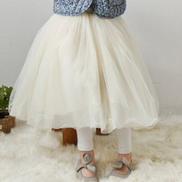 Wholesale Girls Ruffle Skirts Kids Clothing - Spring summer girls lace tulle skirts Children baby kids lace princess long skirts fashion all-match skirt children clothing A8368
