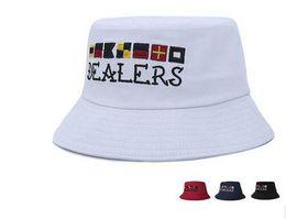 Wholesale Cute Christmas Hats - 2017 Hot ceiling fisherman hat Man woman street cute basin hat embroidery flag sunshade cap