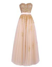 Wholesale Luxury Prom Dresses Sale - Vestido De Festa Formal Party Gowns 2016 Luxury Beaded Sequined Tulle Long Prom Dresses Hot Sale Fiesta Fashion Dresses