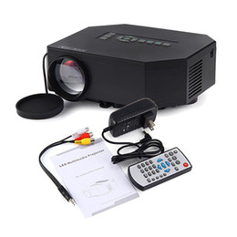 Wholesale Banks Education - Wholesale- UC30 home Cinema Theater beamer Portable Mini 1080P LED LCD Projector Support power bank HDMI VGA SD USB AV phones PC TV laptop