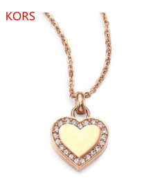 Wholesale Heart Shaped Glass Pendants - Brand designer Love heart shaped Pendant Necklaces Statement Necklaces fashion jewelry best gift for lovers 3 colors