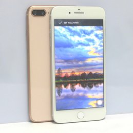 Wholesale video camera covers - Glass Cover Goophone i8 Plus 3G WCDMA Smartphone 1GB 8GB Quad Core MTK6580 Android 6.0 5.5 Inch 1280*720 8MP Cell Phones