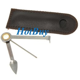 Wholesale Cigar Tools - 3 in 1 Cigar Cutter Pipe Stainless Steel Cleaner Cleaning Tool Reamers Tamper With Bag #3915
