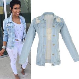 2019 großhandel frauen s peplum jacke Großhandels-Frauen Jacken 2016 Womens Denim Jacke Outwear Jeans Mantel Klassische Mode Causal Jeans Mäntel Jacke Größe M-5Xl