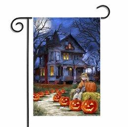 Wholesale Owl Garden - Halloween Garden Flags Pumpkin Ghost Owl y Home Decor Outdoor Hanging Polyester Garden Flags Halloween Decorations 30*45cm KKA2351
