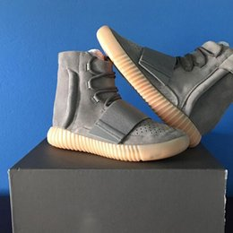 Wholesale Gum Drop - 750 Boost Sneakers Grey Gum Shoes Best 1:1,2016 New Mens and Womens Shoe, Boost 750 Footwear Sneakers,Dropping Shipping Accepted