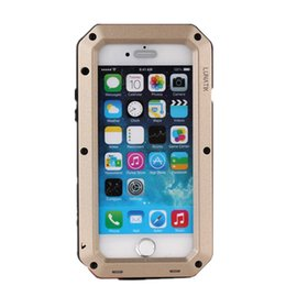 Wholesale Metal Water Tanks - Phone case for iphone 5 5s 5c SE 6 6s plus Tanks Neutral Waterproof Case Apple-style Mobile Phone Metal Shell Drop Resistance Shell