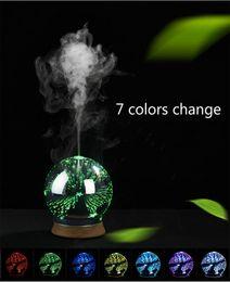 Wholesale Sterilizing Machine - 3D Ultrasonic Humidifiers LED Air Purifier Mini USB Aromatherapy machine Spray Diffuser US EU UK Plug Atomizer For Home Car 7 colors DHL
