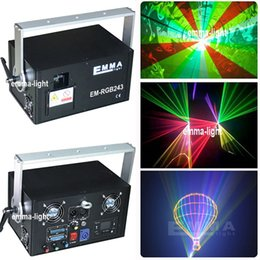 Wholesale Rgb Laser Dmx Ilda - Wholesale- New Chrismas Laser Light 2000mW RGB Laser DMX ILDA SD Card Slot 30K-40k System Full Color Beam Animation show Projector