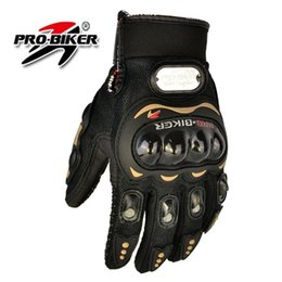 Wholesale finger pro - Pro biker motorcycle gloves full finger knight riding moto motorcross sports GLOVE cycling Washable glove guantes Black M,L,XL