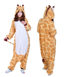 Argentina SS paño grueso y suave pijamas adultos unisex Jirafa mono Onesie Animal Cosplay Party traje niñas disfraces para mujeres Suministro