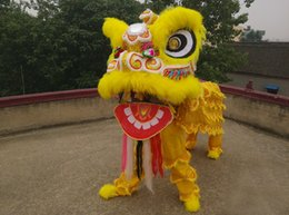 Wholesale Chinese Folk Dancing Costumes - Wholesale-ohlees performance Lion head Dance mascot Costume made of pure wool Southern Ceremony Celebration Adult size chinese Folk