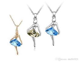 Wholesale Wholesale Women Shoes For Sale - Austria Crystal Shoes Necklaces Jewelry For Women Best Gift 3 Colors 10pcs Sales Silver Plated Pendant necklace B47