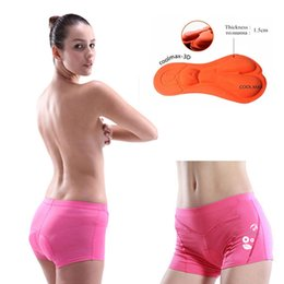 Wholesale Padded Cycling Briefs - WEST BIKING Sports Female Cycling Underwear 3D Pad Bike Bicycle Shorts S-3XL Outdoor Pink Sponge Briefs