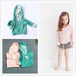 Wholesale Super Cute Coats - UPS Free 2016 Girls boys fleeces super cute Hoodies kids Spring Autumn popular Outwear pink green choose