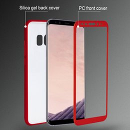 Wholesale Case Protect Galaxy - S8 360 degree Frosted full Cover Case For Samsung Galaxy S8 plus phone cases Soft matte Full body protect cases silicone PC 2in1