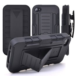 Wholesale Robot Stand Case - 3 in 1 Combo Hybrid Robot Phone Cases for iPhone 6s case Belt Clip Holster Stand Armor Case for LG G Stylo LS77