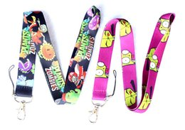 Wholesale Zombie Key Chain - Retail 20 pcs Cartoon Popular Game Plants vs. Zombies Lanyard Key Chains Pendant Children Toy Gifts Favors S273