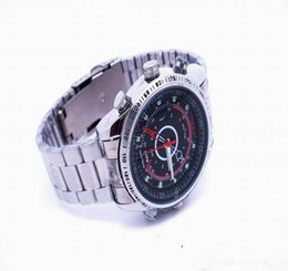 Wholesale 16g Usb Wholesale - 2015 New 007 Spy 16GB HD 1280*960 Wrist Mini DV metal Watch Video SPY Camera DVR DV Waterproof Camcorder USB Disk Watch HTWV29