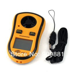 2019 velocidades de fluxo LCD Digital Anemômetro 30 m / s (65MPH) Handheld Medidor de Velocidade Do Vento Velocidade Do Vento Termômetro Vento Frio Indicado Medida Medidor