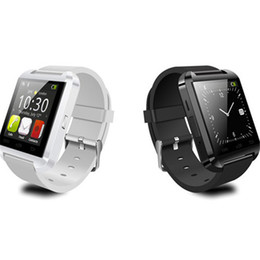 Relojes inteligentes android online-Inteligente relojes inteligentes reloj de pulsera para U8 U SmartWatch de Sony Samsung Huawei Android Móviles buena con Paquete