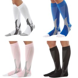 Wholesale Leg Support Sports - Knee Stockings Leg Socks Compression sock Relief Pain Support Socks Copper Leg Support Stretch Running Sport Socks 4 color