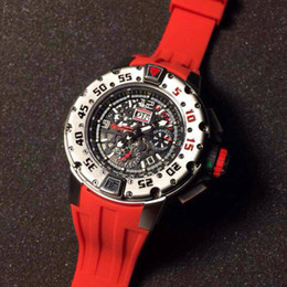 Wholesale Swiss Eta Watches - Top Quality Automatic Luxury Swiss Brand Mens Skeleton Wristwatches ETA 7750 RM032 Face Transparent Rubber Men Mechanical Stainless Watches