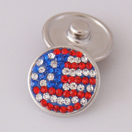 Wholesale United States Design - Some Design To Choose 20mm Flag of the United States USA Snaps Button Jewelry Fit Ginger Snaps Jewelry From Partnerbeads KBFFF